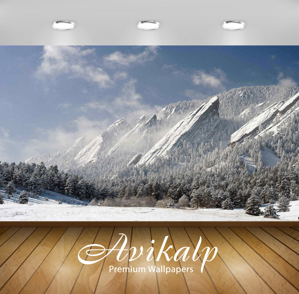 Avikalp Exclusive Awi1789 Flatirons Mountains In Colorado Full HD Wallpapers for Living room, Hall,