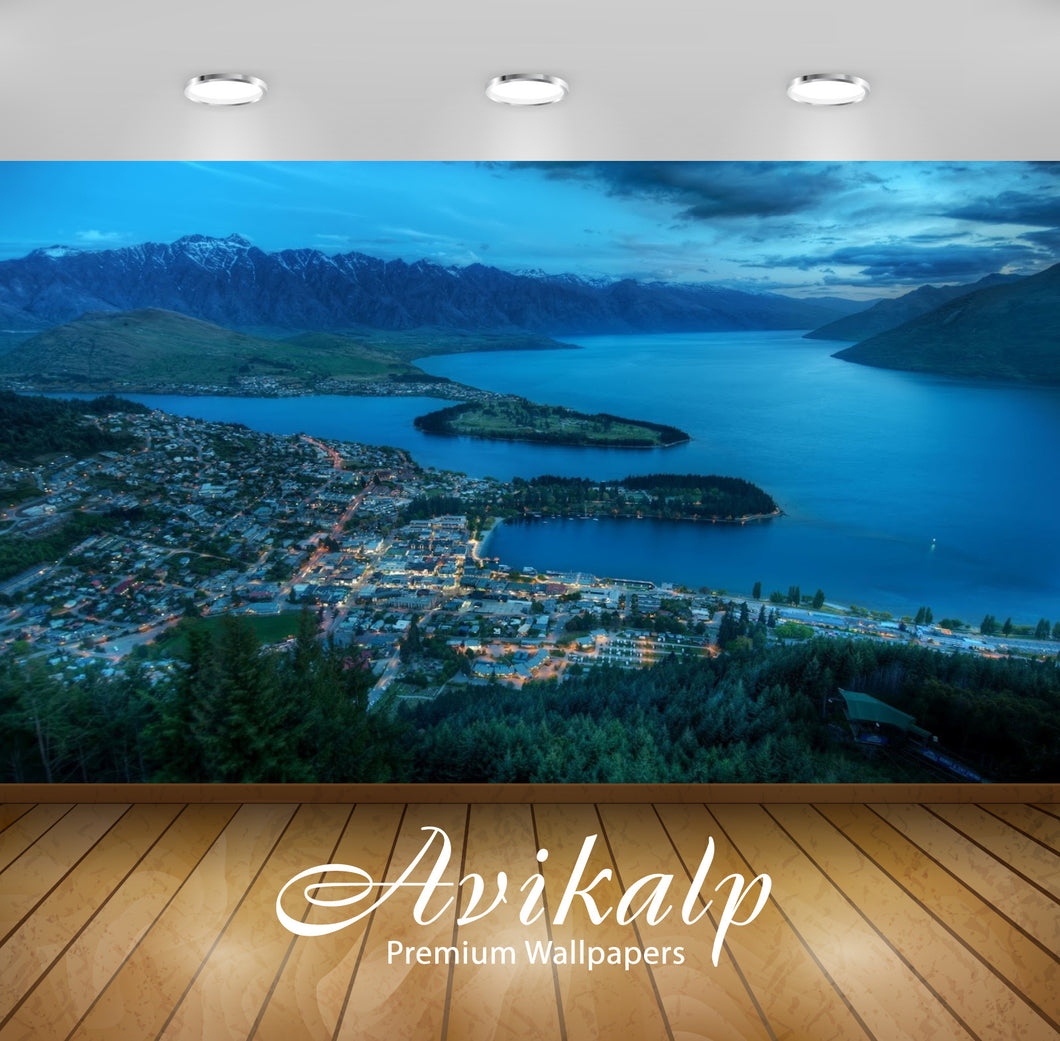 Avikalp Exclusive Awi1791 Queenstown New Zealand Full HD Wallpapers for Living room, Hall, Kids Room