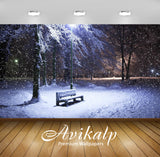 Avikalp Exclusive Awi1800 Beautiful Snowfall Full HD Wallpapers for Living room, Hall, Kids Room, Ki