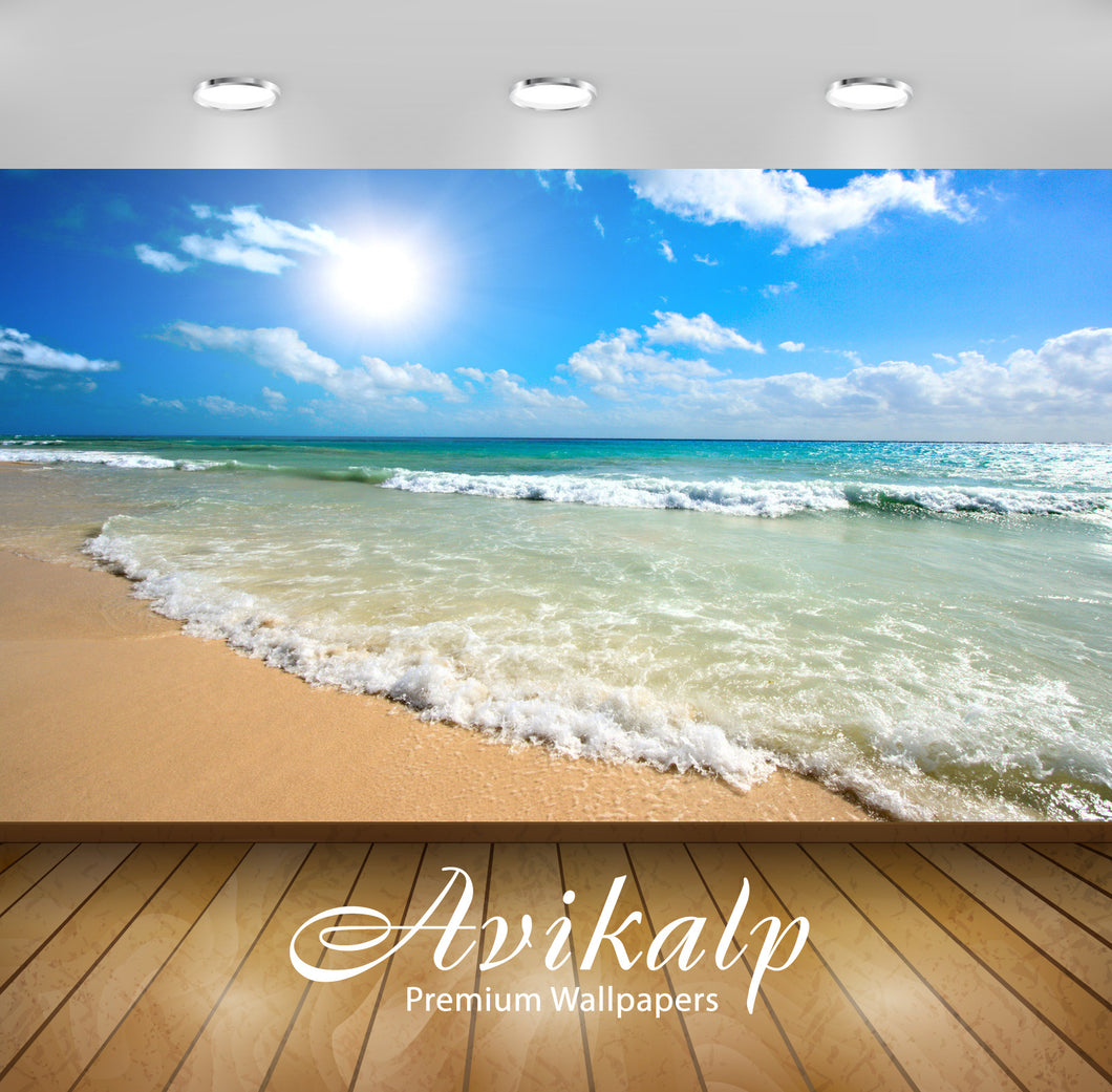 Avikalp Exclusive Awi1809 Beautiful Sea Waves Full HD Wallpapers for Living room, Hall, Kids Room, K