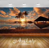 Avikalp Exclusive Awi1814 Scenery Reflection Resort Full HD Wallpapers for Living room, Hall, Kids R