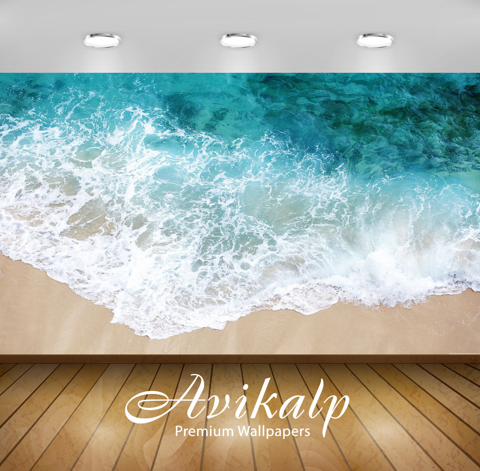 Avikalp Exclusive Awi1830 Beautiful Sea Waves Full HD Wallpapers for Living room, Hall, Kids Room, K