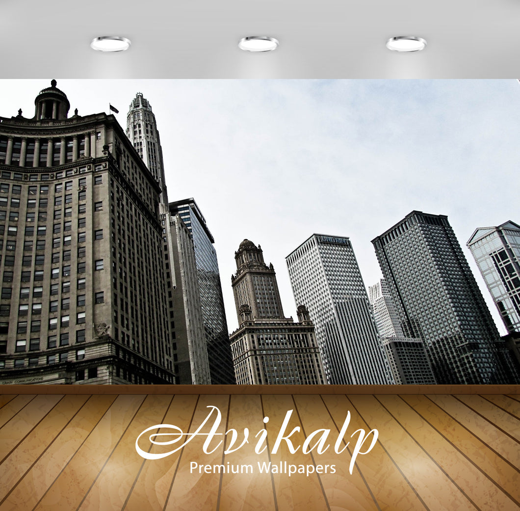 Avikalp Exclusive Awi1835 Chicago City Full HD Wallpapers for Living room, Hall, Kids Room, Kitchen,