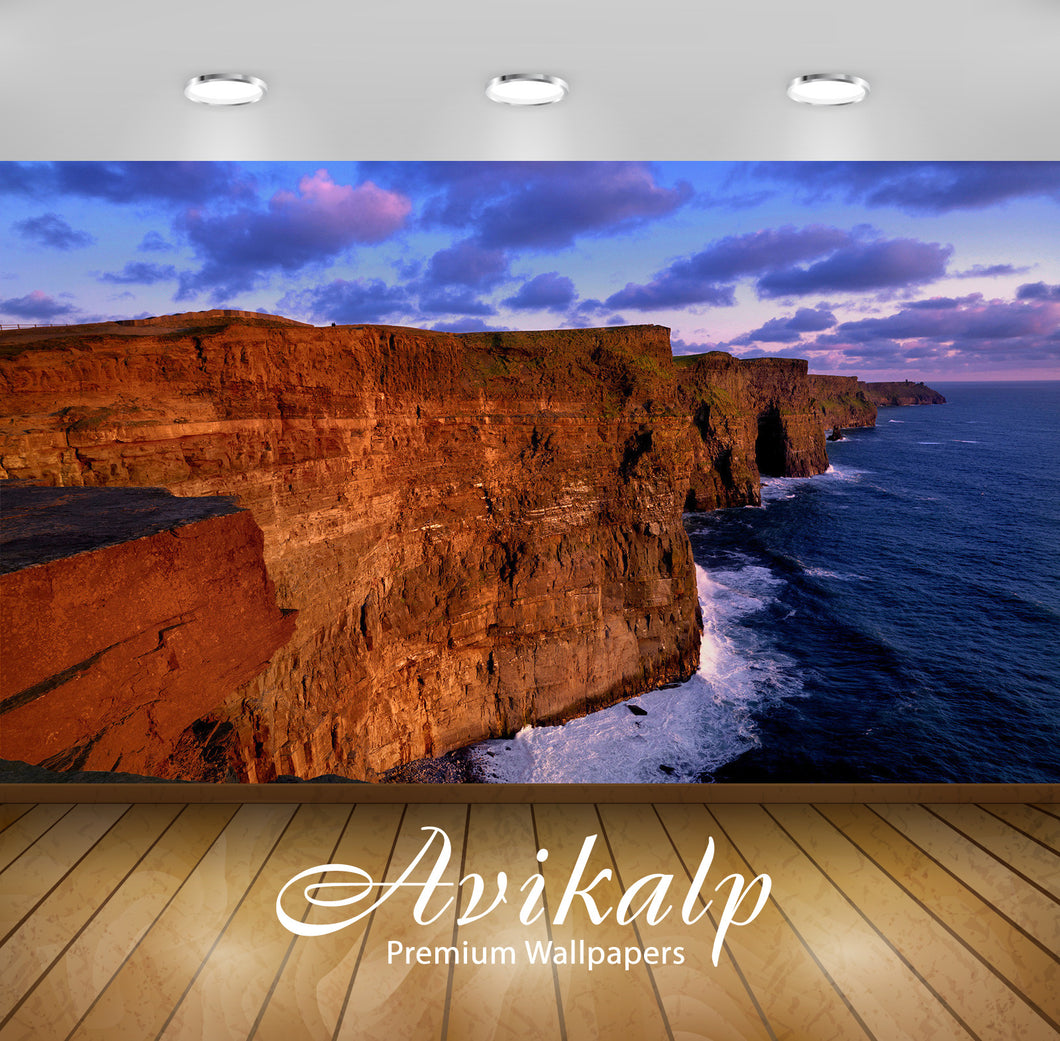 Avikalp Exclusive Awi1841 Cliffs Of Moher Ireland Full HD Wallpapers for Living room, Hall, Kids Roo