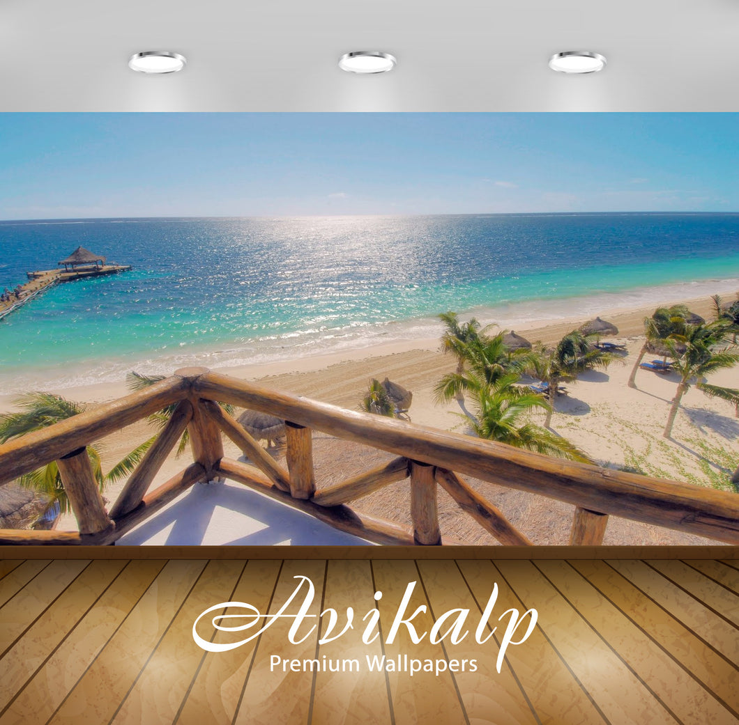 Avikalp Exclusive Awi1844 Beautiful Beach Full HD Wallpapers for Living room, Hall, Kids Room, Kitch
