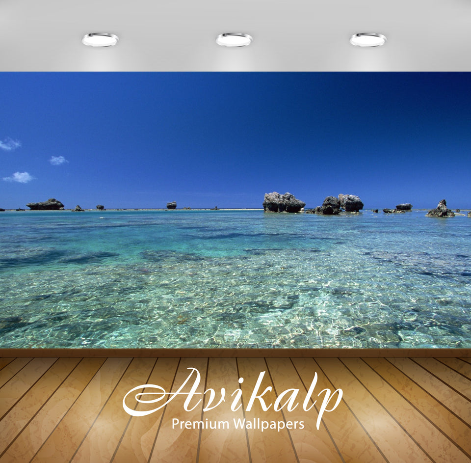 Avikalp Exclusive Awi1845 Sea Water Nature Beauty Full HD Wallpapers for Living room, Hall, Kids Roo