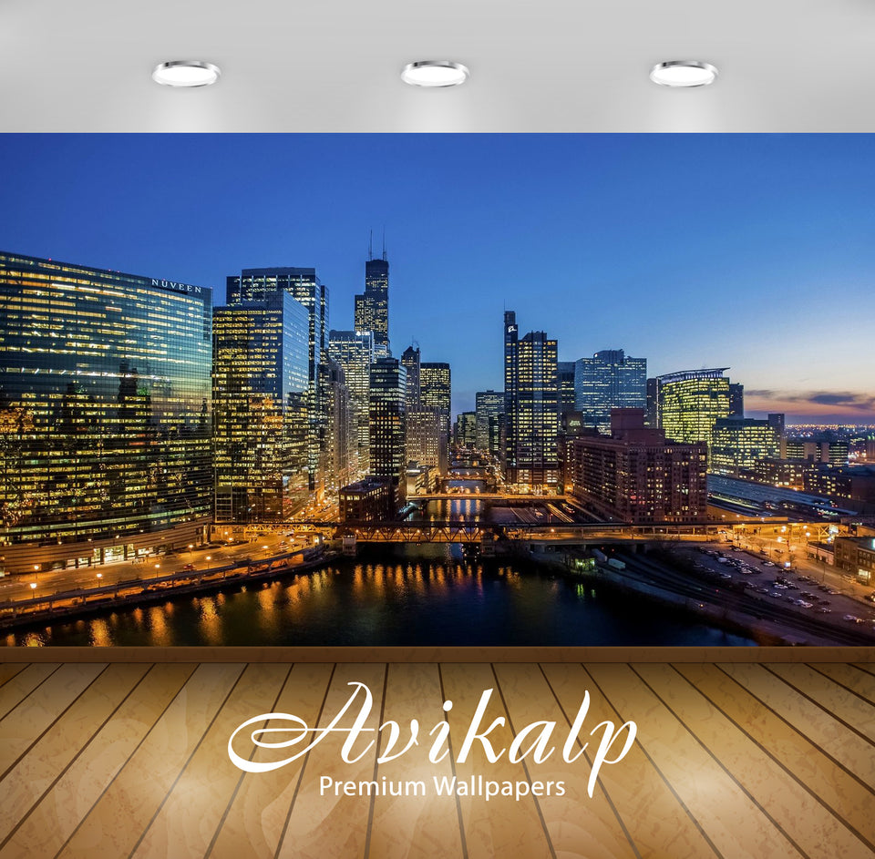 Avikalp Exclusive Awi1849 City View Full HD Wallpapers for Living room, Hall, Kids Room, Kitchen, TV