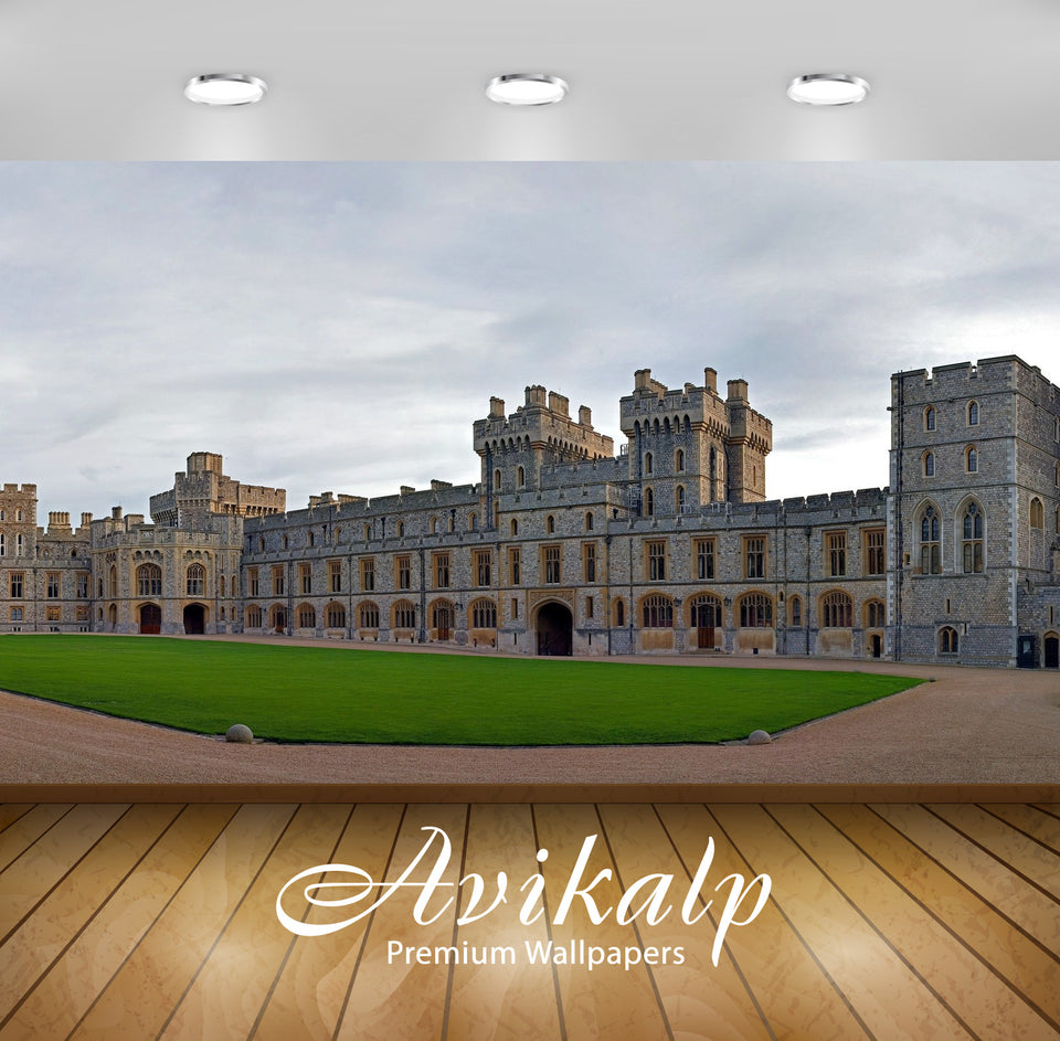 Avikalp Exclusive Awi1851 Windsor Castle England Full HD Wallpapers for Living room, Hall, Kids Room