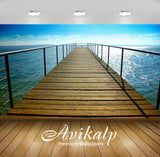 Avikalp Exclusive Awi1863 Bridge On Sea Full HD Wallpapers for Living room, Hall, Kids Room, Kitchen