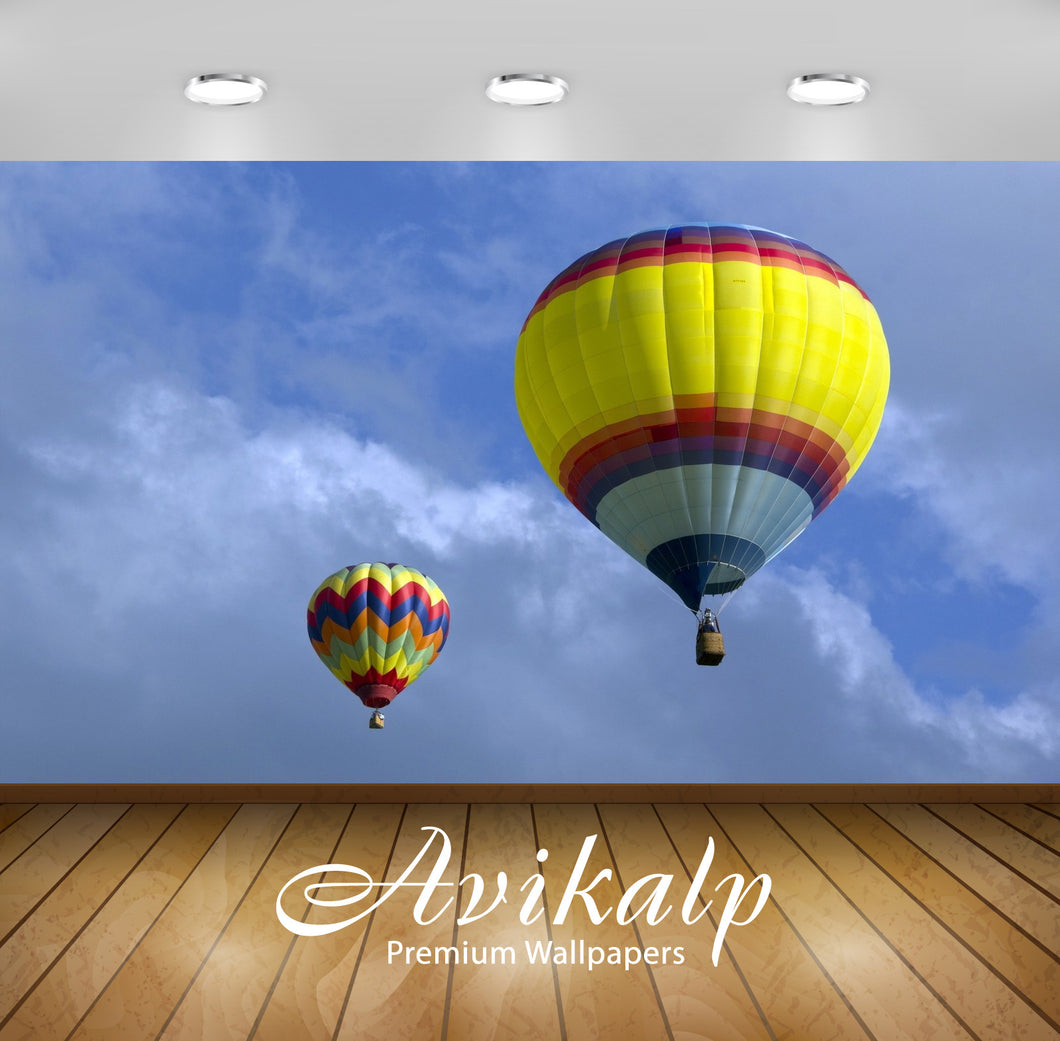 Avikalp Exclusive Awi1878 Hot Air Balloon Full HD Wallpapers for Living room, Hall, Kids Room, Kitch