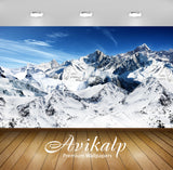 Avikalp Exclusive Awi1890 Snowy Mountains Full HD Wallpapers for Living room, Hall, Kids Room, Kitch