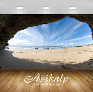 Avikalp Exclusive Awi1897 Beach View Full HD Wallpapers for Living room, Hall, Kids Room, Kitchen, T