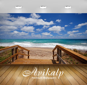 Avikalp Exclusive Awi1907 Way To Beach Full HD Wallpapers for Living room, Hall, Kids Room, Kitchen,