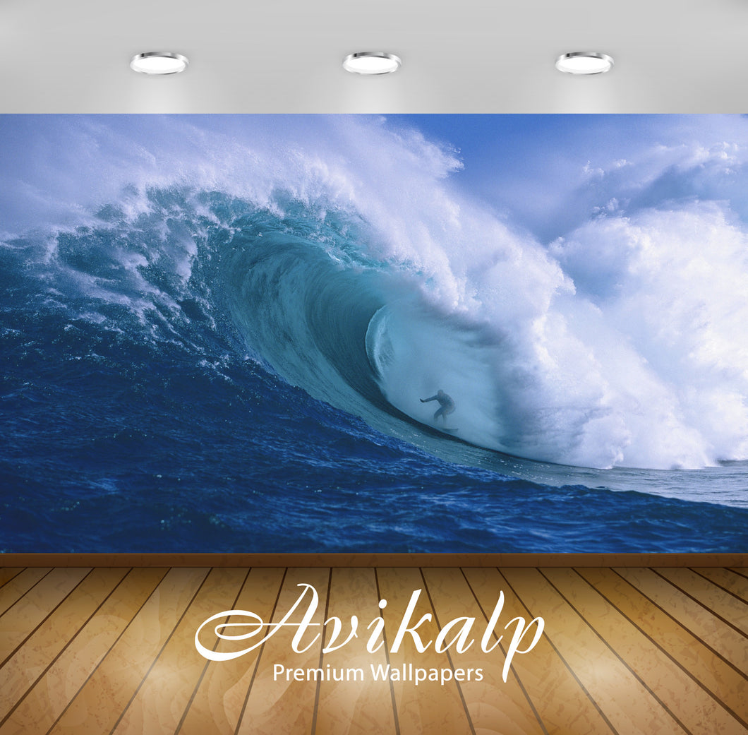 Avikalp Exclusive Awi1909 Surfing In A Hurricane Full HD Wallpapers for Living room, Hall, Kids Room