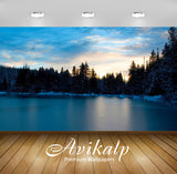 Avikalp Exclusive Awi1932 Frozen Lake Full HD Wallpapers for Living room, Hall, Kids Room, Kitchen,