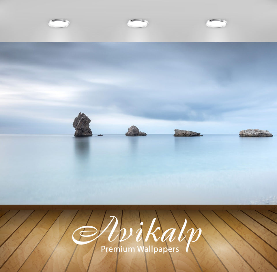 Avikalp Exclusive Awi1945 Rocks In The Water Full HD Wallpapers for Living room, Hall, Kids Room, Ki