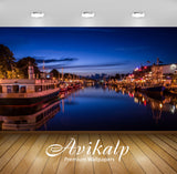 Avikalp Exclusive Awi1946 City On The Bank Of River Full HD Wallpapers for Living room, Hall, Kids R