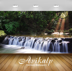 Avikalp Exclusive Awi1953 Wonder Waterfall Full HD Wallpapers for Living room, Hall, Kids Room, Kitc