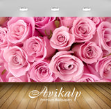 Avikalp Exclusive Awi1977 Beautiful Pink Flowers Full HD Wallpapers for Living room, Hall, Kids Room