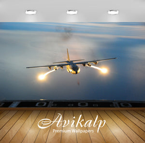 Avikalp Exclusive Awi1978 Flares On A Plane Full HD Wallpapers for Living room, Hall, Kids Room, Kit