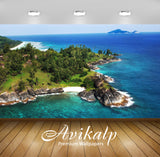 Avikalp Exclusive Awi1981 Beautiful Island Full HD Wallpapers for Living room, Hall, Kids Room, Kitc
