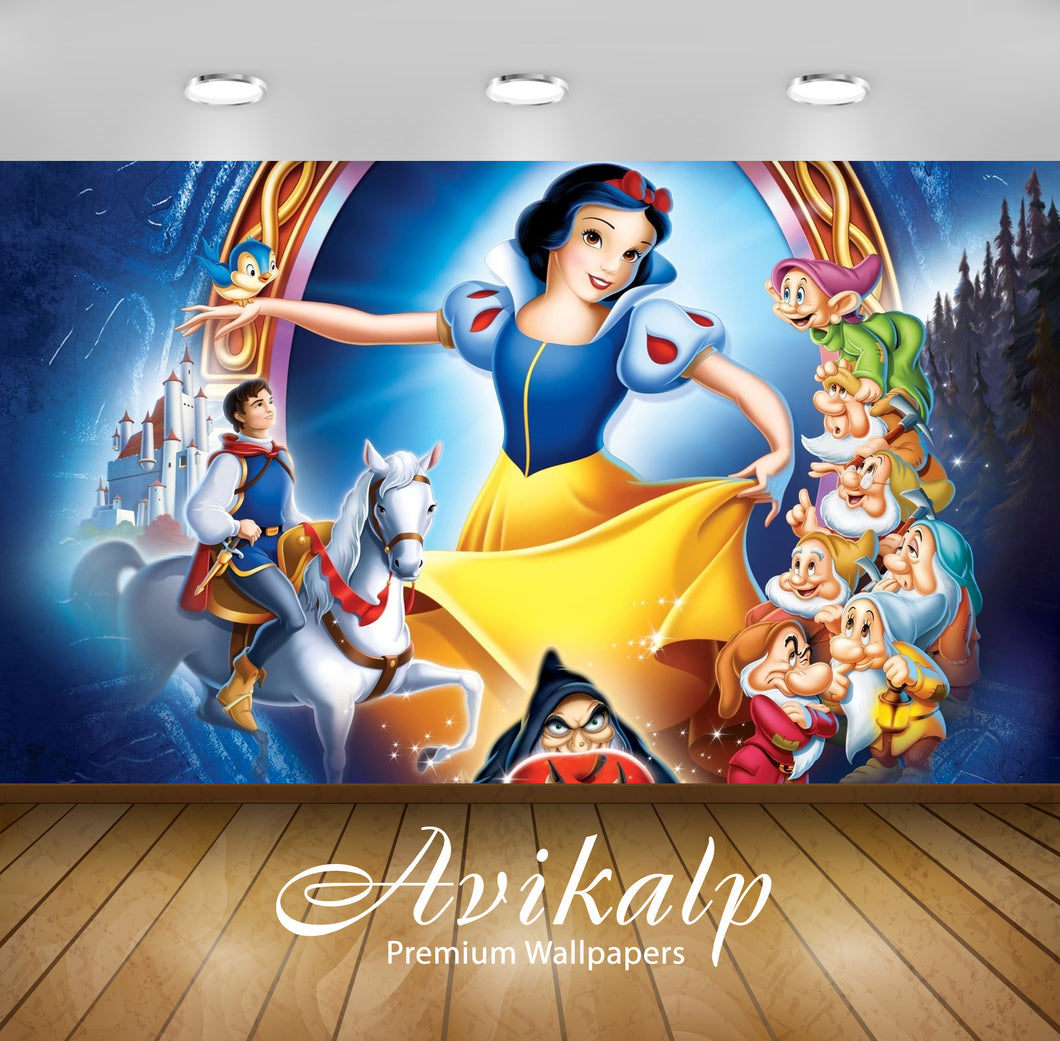 Avikalp Exclusive Awi2007 Snow White And The Seven Dwarfs Full HD Wallpapers for Living room, Hall,