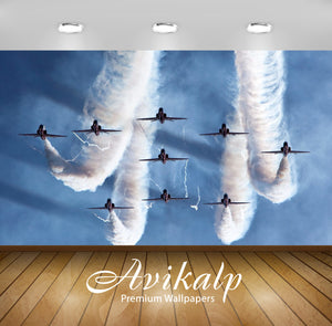 Avikalp Exclusive Awi2018 Aerobatic Team Air Force  Full HD Wallpapers for Living room, Hall, Kids R