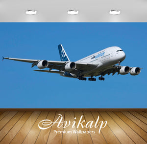 Avikalp Exclusive Awi2021 Airbus A380 Airplanes  Full HD Wallpapers for Living room, Hall, Kids Room