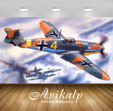 Avikalp Exclusive Awi2023 Airplane Aviation  Full HD Wallpapers for Living room, Hall, Kids Room, Ki