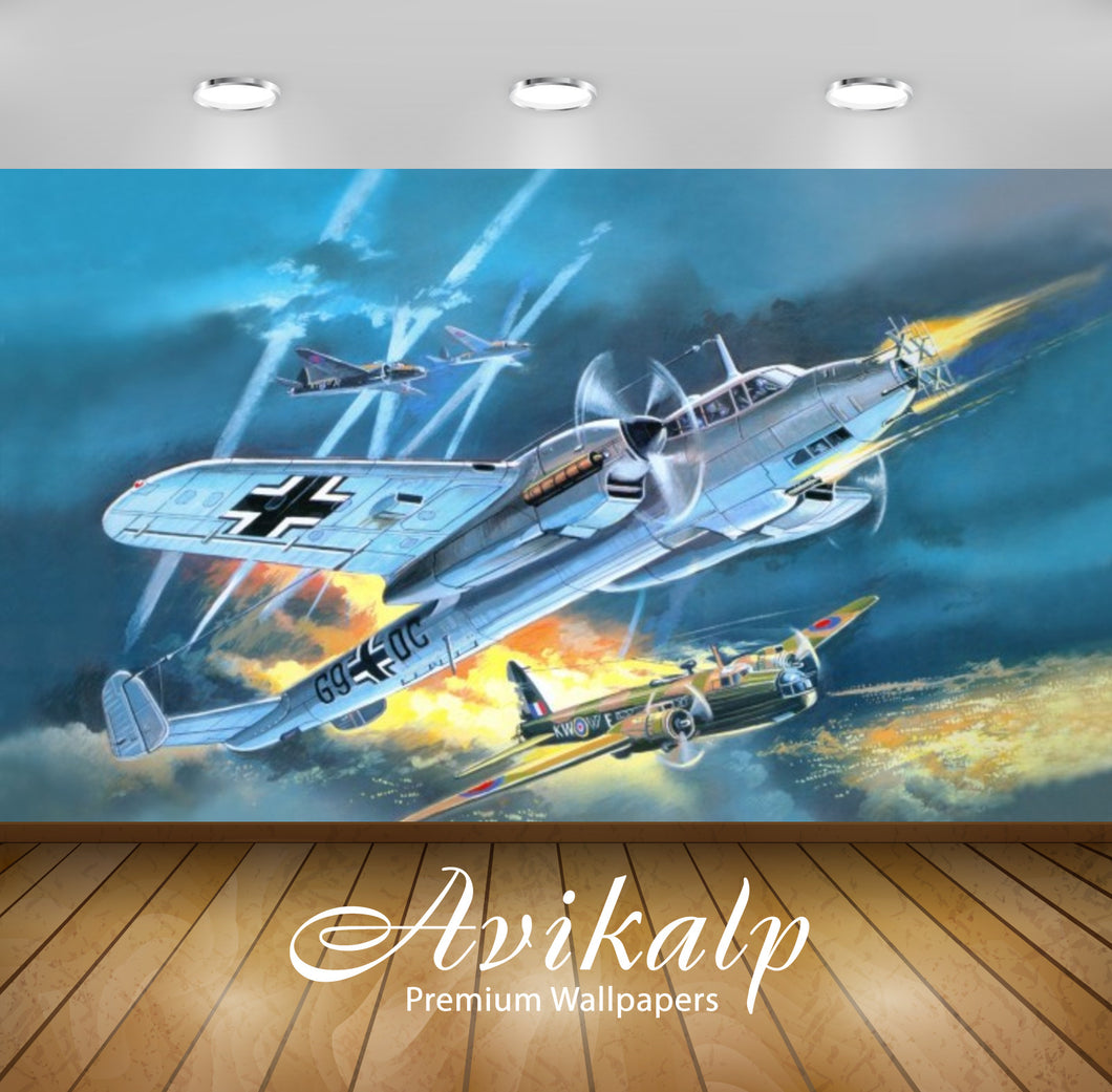 Avikalp Exclusive Awi2029 Airplane Flight Cross Aviation  Full HD Wallpapers for Living room, Hall,
