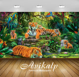 Avikalp Exclusive Awi2031 Animal Kingdom Jungle Tigers Birds  Full HD Wallpapers for Living room, Ha
