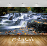 Avikalp Exclusive Awi2049 Cascading Waterfall Autumn Upper Peninsula Michigan United States  Full HD