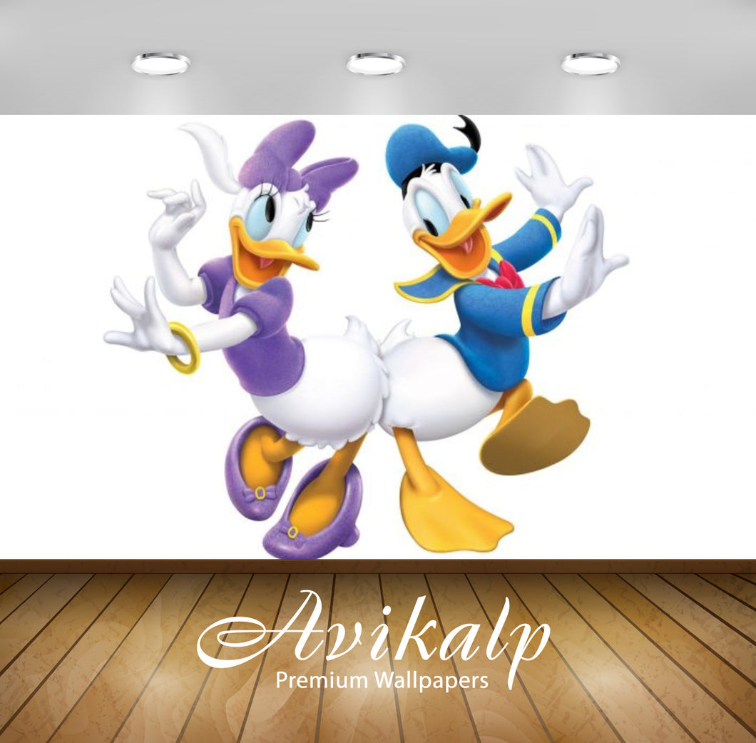 Avikalp Exclusive Awi2057 Dancing Donald Duck With Daisy Duck Character Characters From Walt  Full H