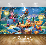 Avikalp Exclusive Awi2063 Disney Picture Winnie The Pooh And Friends Lantern Telescope Picnic  Full