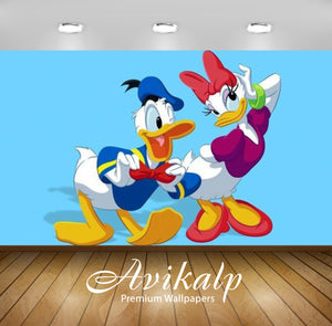 Avikalp Exclusive Awi2064 Disney Pictures Donald And Daisy Duck Adjusting Fixing Bow Tie  Full HD Wa