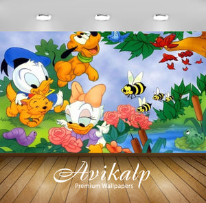Avikalp Exclusive Awi2074 Donald Duck Daisy Duck And Pluto As A Tiny Baby  Full HD Wallpapers for Li