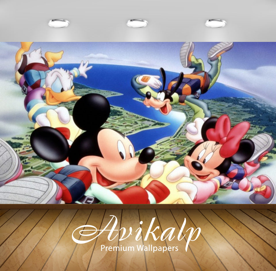 Avikalp Exclusive Awi2097 Mickey Mouse And Friends Jumping Out Of A Plane With Improvements  Full HD