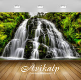 Avikalp Exclusive Awi2175 Beautiful Cascada Waterfall Full HD Wallpapers for Living room, Hall, Kids