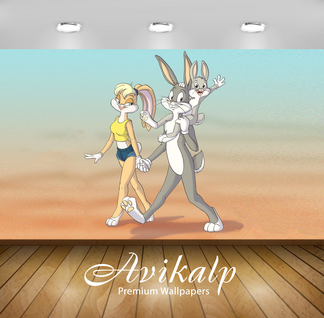 Avikalp Exclusive Awi2192 Bugs and Lola Bunny with baby Looney Tunes Full HD Wallpapers for Living r