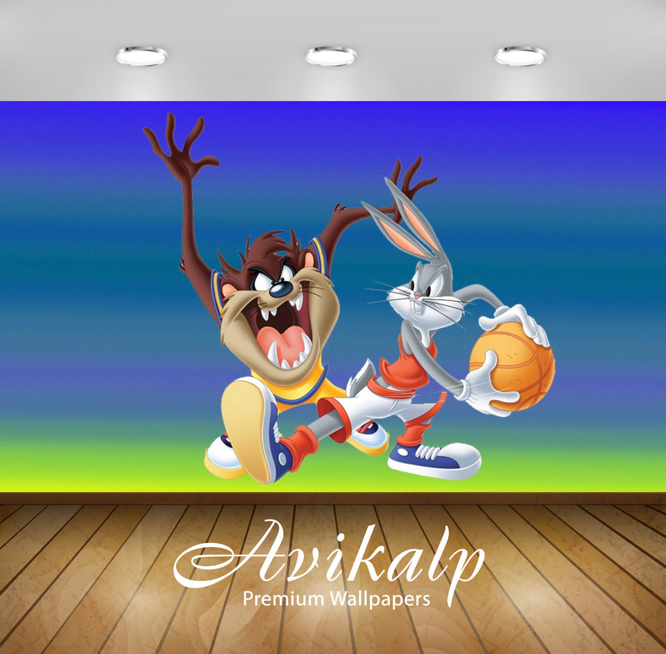 Avikalp Exclusive Awi2198 Bugs Bunny and Tasmanian Devi basketball player Looney Tunes Full HD Wallp