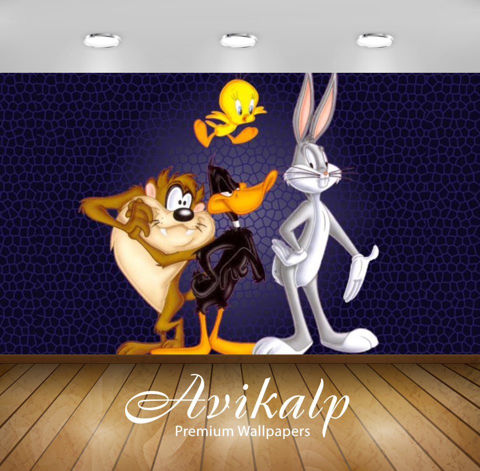 Avikalp Exclusive Awi2202 Bugs Bunny Daffy Duck Tweety Tazz Looney Tunes Full HD Wallpapers for Livi