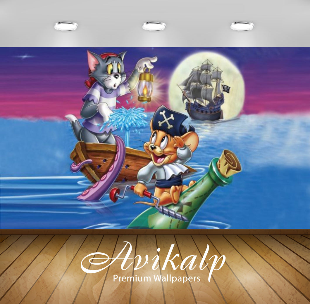 Avikalp Exclusive Awi2275 Tom and Jerry Shiver Me Whiskers Full HD Wallpapers for Living room, Hall,