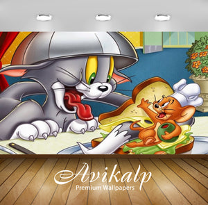 Avikalp Exclusive Awi2282 Tom and Jerry Tasty sandwich for Tom Full HD Wallpapers for Living room, H