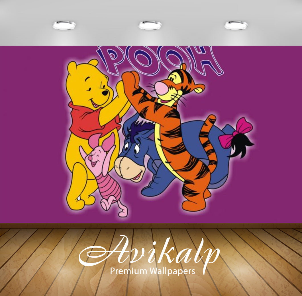 Avikalp Exclusive Awi2334 Winnie the Pooh Full HD Wallpapers for Living room, Hall, Kids Room, Kitch