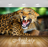 Avikalp Exclusive Awi2368 Angry Leopard Shows Sharp Teeth Full HD Wallpapers for Living room, Hall,