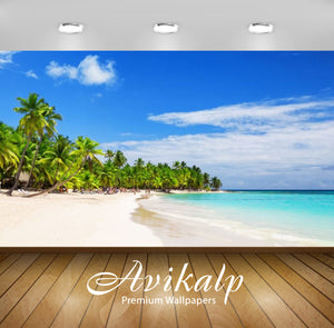 Avikalp Exclusive Awi2384 Arena Blanca Beach Dominican Republic White Sandy Beaches Coconut Palm Tre