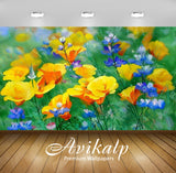 Avikalp Exclusive Awi2388 Art Poddubnyak Victor Yellow Flowers Full HD Wallpapers for Living room, H