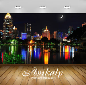 Avikalp Exclusive Awi2409 Bangkok Moon Color Full HD Wallpapers for Living room, Hall, Kids Room, Ki