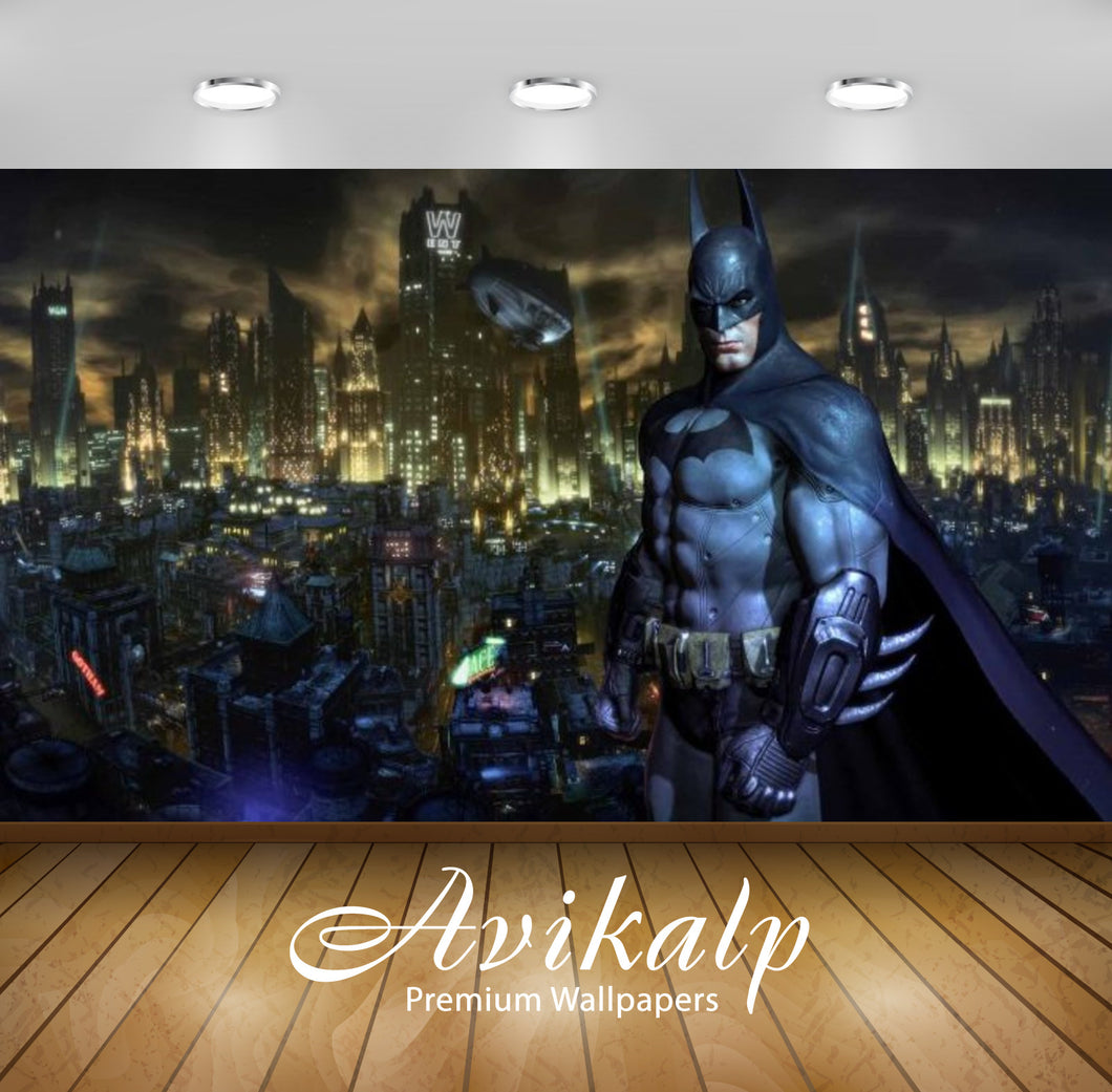 Avikalp Exclusive Awi2413 Batman Arkham Knight Black Full HD Wallpapers for Living room, Hall, Kids