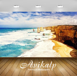 Avikalp Exclusive Awi2418 Beach Full HD Wallpapers for Living room, Hall, Kids Room, Kitchen, TV Bac